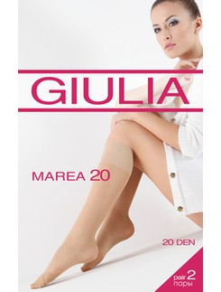Giulia Marea 20 Sheer Knee High Socks 2er-Pack