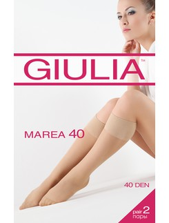 Giulia Marea 40 Doublepack of Semi-sheer Knee-highs