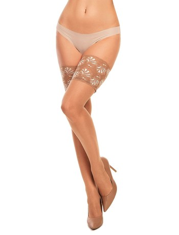 Glamory Deluxe 20 Lace Top Hold-Ups make-up