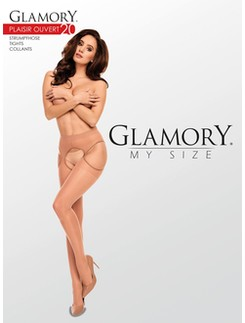 Glamory My Size Plaisir Ouvert 20 Suspender Tights