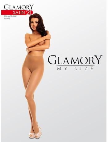 Glamory Satin 20 Plus Size Tights