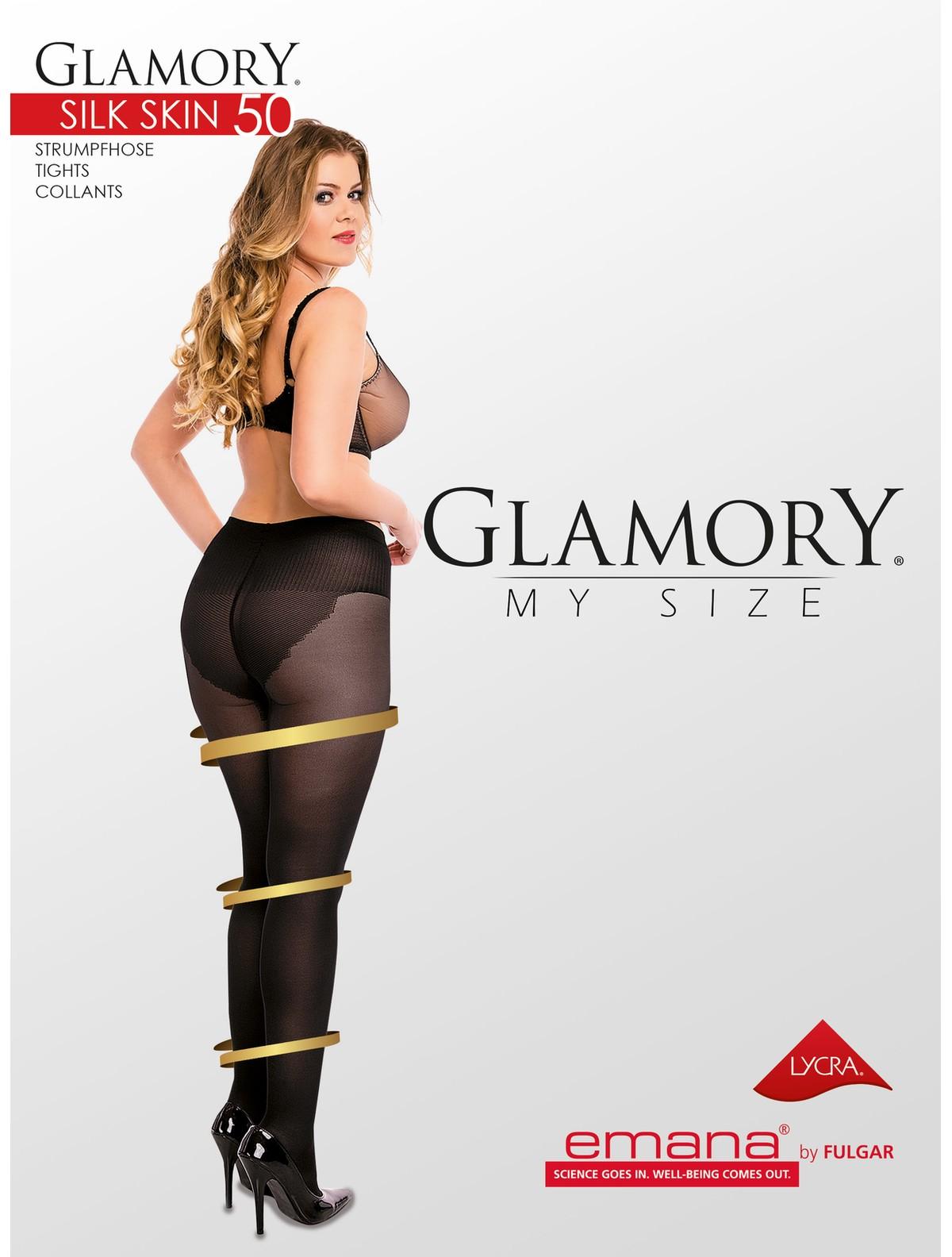 b48aedb239608 Glamory My Size Silk Skin 50 Shapewear Tights