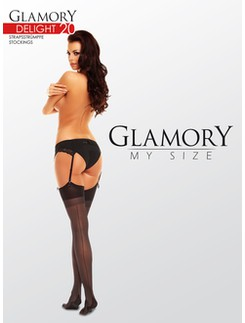 Glamory Delight 20 sheer Backseam Stockings