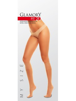 Glamory Fit 20 Transparent Knee High Socks