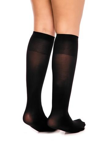 Glamory Fit 50 Microfiber Knee High Socks black