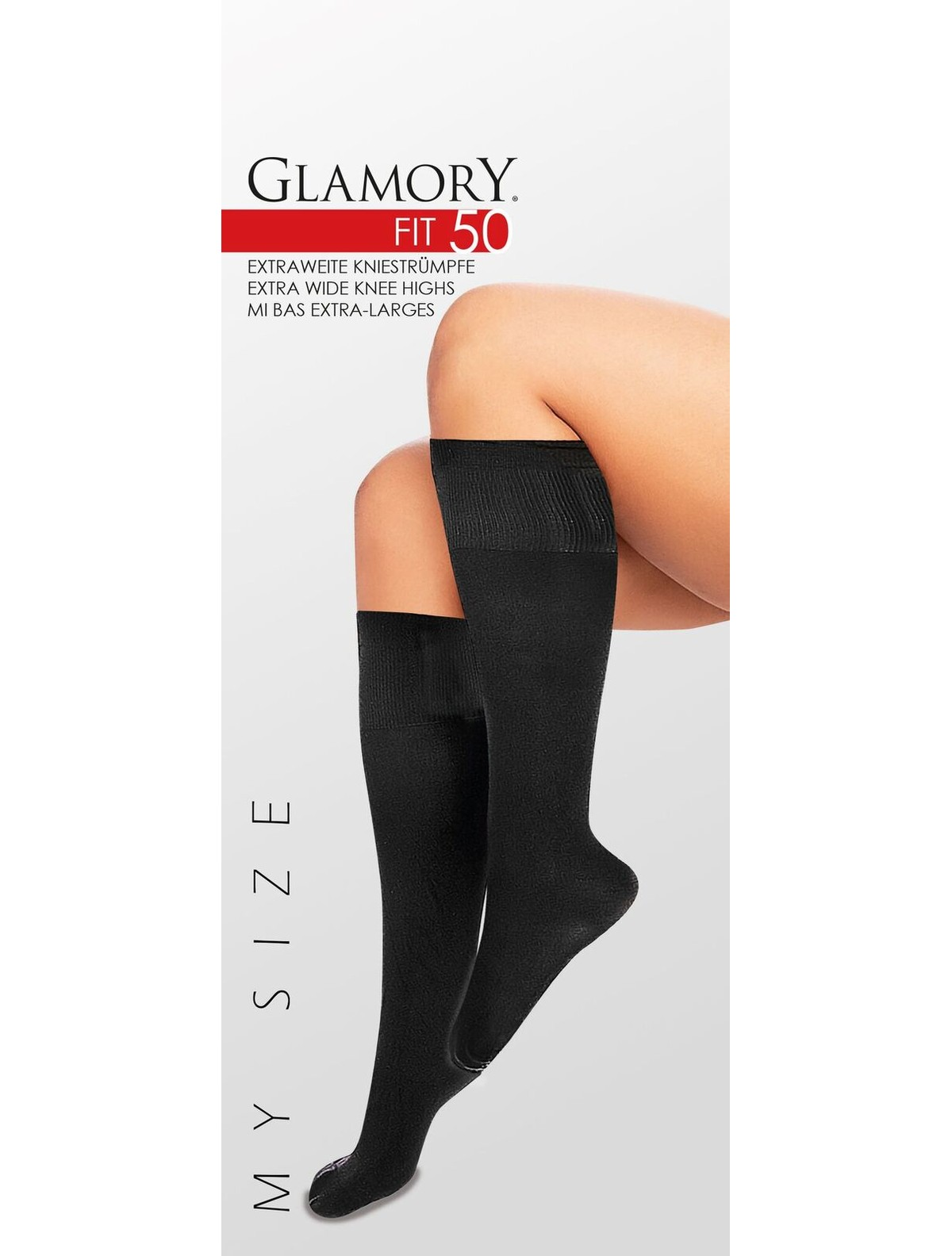 61dce28cf7b Glamory Fit 50 Microfiber Knee High Socks
