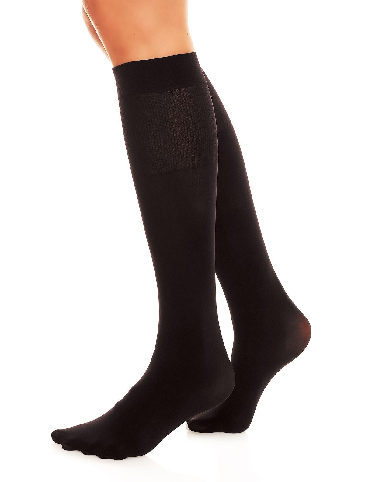 9c7d4ea91cf ... Glamory Fit 50 Microfiber Knee High Socks black ...