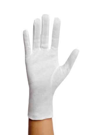 Glamory Plain Cotton Gloves white