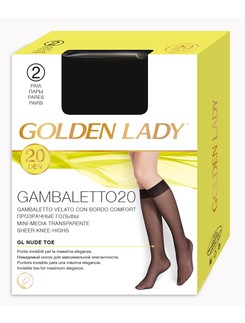 Golden Lady Gambaletto 20 Sheer Knee Highs Socks