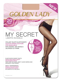 Golden Lady My Secret 20 Seamless sheer tights 20DEN