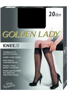 Golden Lady Knee 20  Satin Sheer  Knee-highs