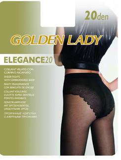 Golden Lady Elegance 20 Satin Sheer Tights with Bikini Brief