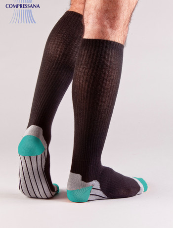 Compressana Sport Compression Knee High Socks black