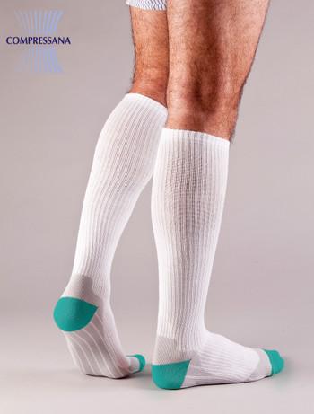 Compressana Sport Compression Knee High Socks white