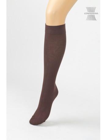 Compressana Cotton Medium Support Knee High Socks schoko