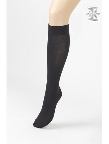 Compressana Cotton Medium Support Knee High Socks black