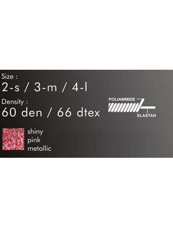 Giulia Shiny 60 Lurex Strumpfhose- Pink Shine