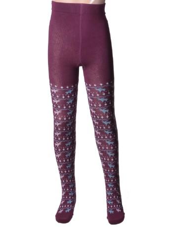 Hudson Kids Fashion Reindeer Tights dusty violet