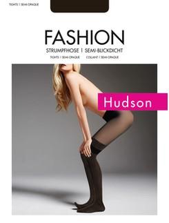 Hudson Woman Modern Stripes Tights Overknee-Optic