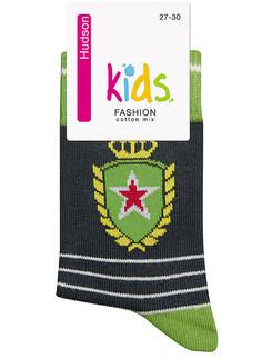 Hudson Kids Fashion Trendy Emblem Socks