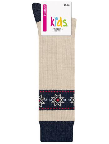 Hudson Kids Fashion Cozy Norwegian Knee High Socks winter beige