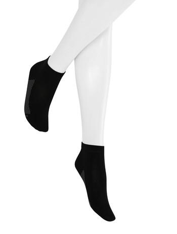 Hudson Relax Cotton Dry Women's Sneaker Socks black