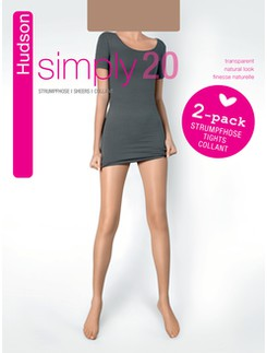 Hudson Simply 20 Double Pack of sheer Tights