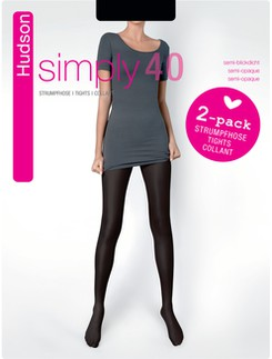 Hudson Simply 40 two pack of Semi-sheer Tights