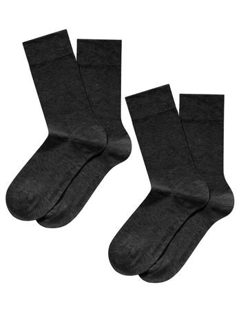 Hudson Only Men's  Socks Double Pack grey tinged