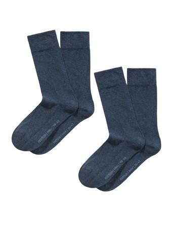 Hudson Only Men's  Socks Double Pack marine