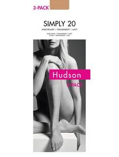 Hudson Simply 20 Knee High Socks Triple Pack
