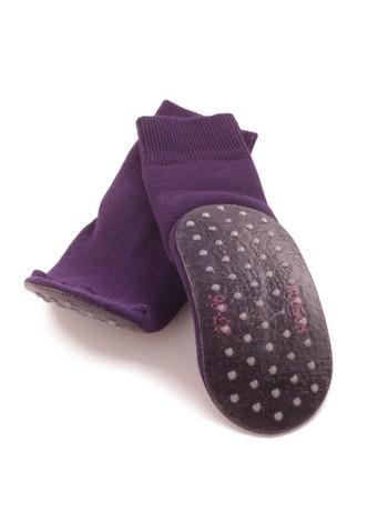 Hudson Kids Basic Anti-Slip Socks plum