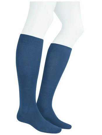 Hudson Relax Cotton Men's Knee High Socks nightblue