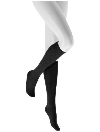 Hudson Relax Cotton Knee High Socks black