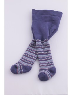 Hudson Classic Plushed and fine striped Baby Tights