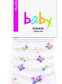 Hudson Springtime Striped Baby Tights