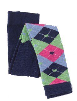 Hudson Kids Argyle & Hearts Cotton Leggings