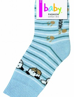 Hudson Baby Smiling Dog Plushed Socks