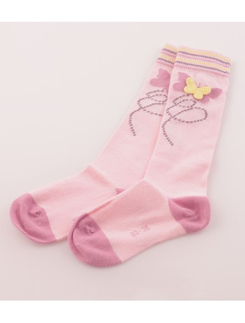 Hudson Butterfly Knee High Socks tearose