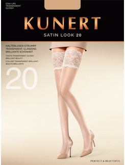 Kunert Satin Look 20 Stay-Ups with broad Lace Tops