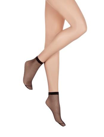 Kunert Net Ankle Socks with a subtle look black