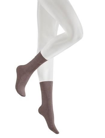 Kunert Velvet Melange Socks taupe