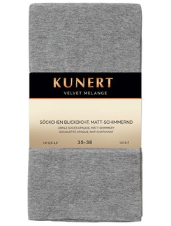 Comfortable Velvet Melange Mid-Calf Socks from Kunert