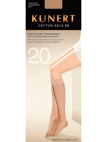 Kunert Cotton Sole 20 Knee-Highs