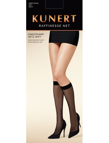 Kunert Raffinesse Net nylon knee high socks