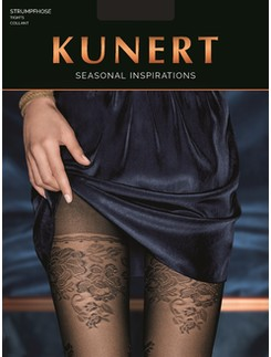 Kunert semi opaque tights with floral lurex elements
