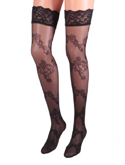 Levante Styling Floral Patterned Tulle Stockings