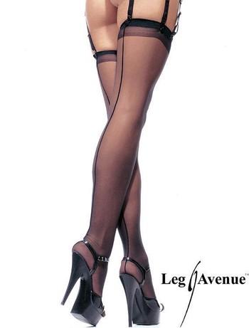 Leg Avenue Sheer Backseam Stockings black