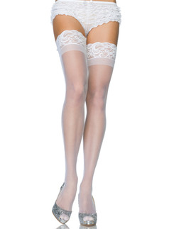 Leg Avenue Sheer Lace Top Thigh Highs