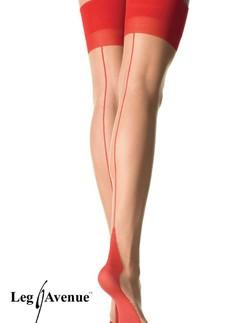 Leg Avenue red eamed Cuban Heel Stockings